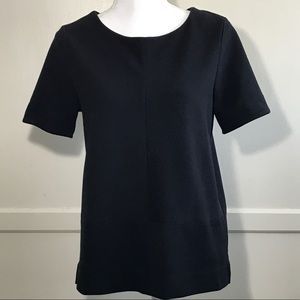 Madewell Bistro Short Sleeve Top Black Size M